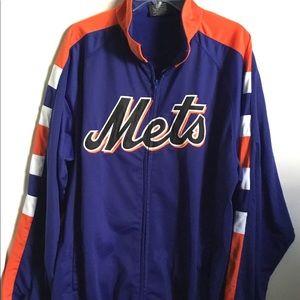 NY Mets Logo Jacket XL Full Zip MLB Baseball